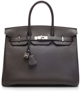 Hermes Heritage Auctions Special Collection 35Cm Graphite Togo Birkin