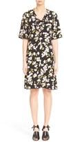Marni Ruffle Trim Floral Print Dress