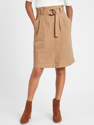 Banana Republic Petite Canvas Utility Skirt