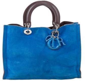Christian Dior Suede Diorissimo Bag