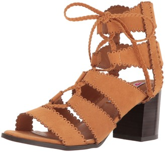 Two Lips Women's Too Domino Dress Sandal Tan 7.5 M US