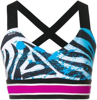 NO KA 'OI No Ka' Oi zebra print sports bra