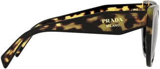 Prada Pr 14ws Black / Medium Tortoise Sunglasses