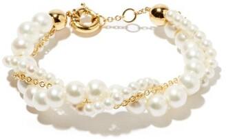 Yvonne Léon Lady Pearl & 18kt Gold Bracelet - Pearl