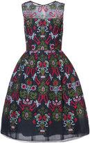 Oscar de la Renta sheer dress with all-over print