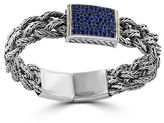 Effy Sterling Silver and 18K Yellow Gold Blue Sapphire Bracelet