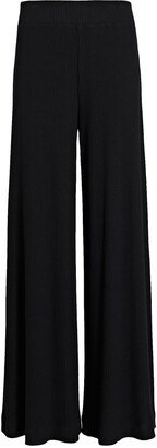 L'Agence The Crawford Rib Knit Wide-Leg Pants