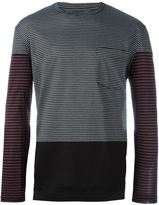 Lanvin striped panel pocket T-shirt
