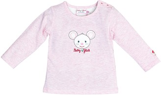 Salt&Pepper Salt and Pepper Baby Girls' BG Longsleeve uni Maus OCS T-Shirt