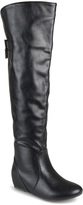 Journee Collection Black Angel Wide-Calf Over-the-Knee Boot