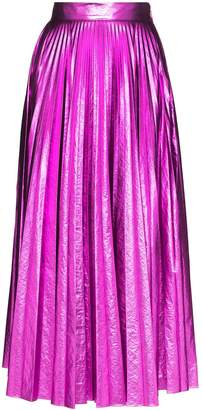 Christopher Kane metallic pleated skirt