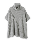 Country Road Fringe Knit Cape
