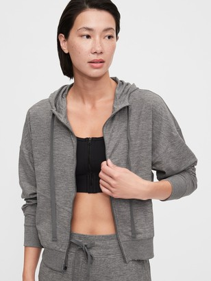 Gap Brushed Tech Jersey Pullover Hoodie