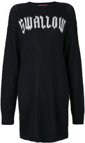 McQ by Alexander McQueen swallow sweater dress - women - Acrylic/Polyamide/Mohair - S