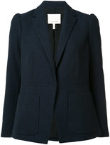Rebecca Taylor patch pockets blazer - women - Cotton/Polyester/Spandex/Elastane/Viscose - 2