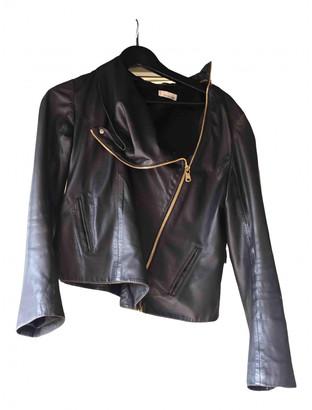 Stine Goya Black Leather Leather jackets