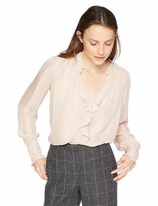 Parker Women's Tilly Long Sleeve v-Neck Ruffle Blouse
