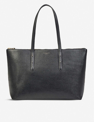 Aspinal of London Zipped Regent saffiano leather tote bag