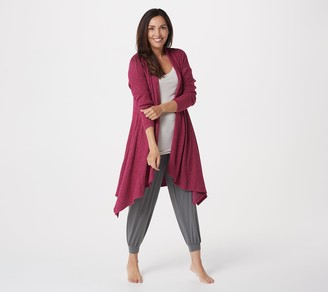 AnyBody Brushed Rib Cardigan with Highlow Hem