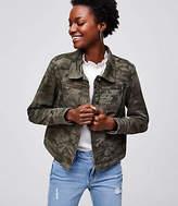 LOFT Petite Camo Twill Jacket