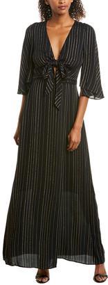 BCBGMAXAZRIA Tie-Front Wrap Dress