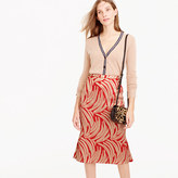 J.Crew Panel skirt in palm leaf jacquard