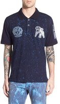 PRPS Men's 'Boldo' Mixed Knit Polo