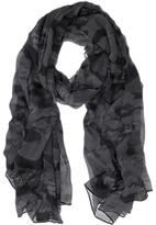 Mint Velvet Camouflage Print Scarf, Grey