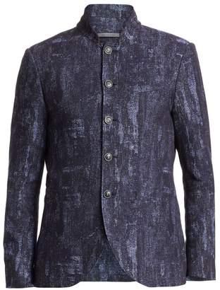 John Varvatos Slim-Fit Mandarin Collar Jacket