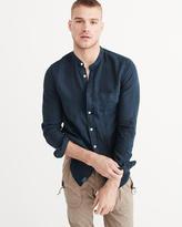 Abercrombie & Fitch Linen Mandarin Collar Shirt