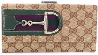Gucci Pre-Owned GG Supreme horsebit wallet
