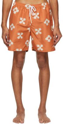 Saturdays NYC Orange Timothy Ikat Swim Shorts