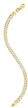 Argentovivo Link Curb Chain Bracelet in 18K Gold-Plated Sterling Silver
