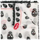 Alexander McQueen 'Skull Kisses' scarf - women - Silk/Modal - One Size