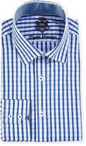 English Laundry Check Dress Shirt, Navy
