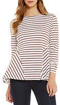 Daniel Cremieux Erin Stripe Knit Top