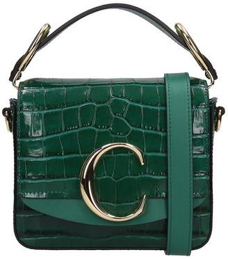 Chloé Green Leather Mini C Bag