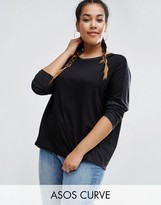 Asos Contrast Marl T-Shirt With Long Sleeves