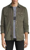 John Varvatos Light Suede Zip-Front Shirt Jacket