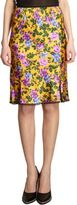 Nina Ricci Lace Trimmed Floral Skirt