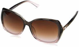 Southpole Women's 1055SP Glamorous Rectangular Sunglasses with Rhinestone Crystal Accent and 100% UV Protection 50 mm
