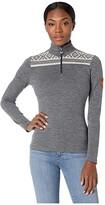 Dale of Norway Cortina Basic Feminine Sweater (E-Smoke/Off-White) Women's Sweater