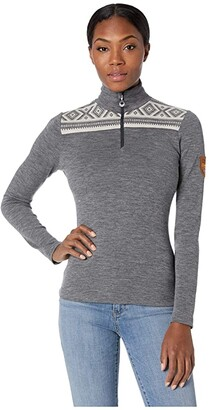 Dale of Norway Cortina Basic Feminine Sweater (E-Smoke/Off-White) Women's Sweater