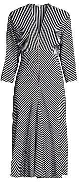 Maje Women's Chevron Stripe A-Line Dress