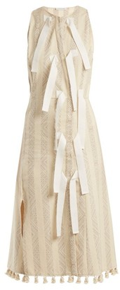 Altuzarra Blanche Diamond-jacquard Dress - Ivory