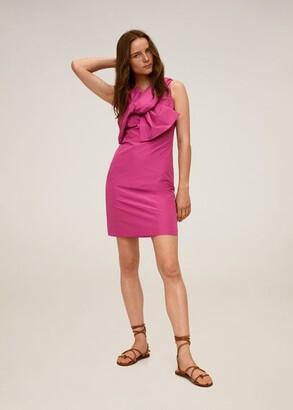 MANGO Bow short dress fuchsia - 2 - Women