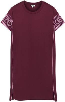 Kenzo Burgundy Logo-print Cotton T-shirt Dress