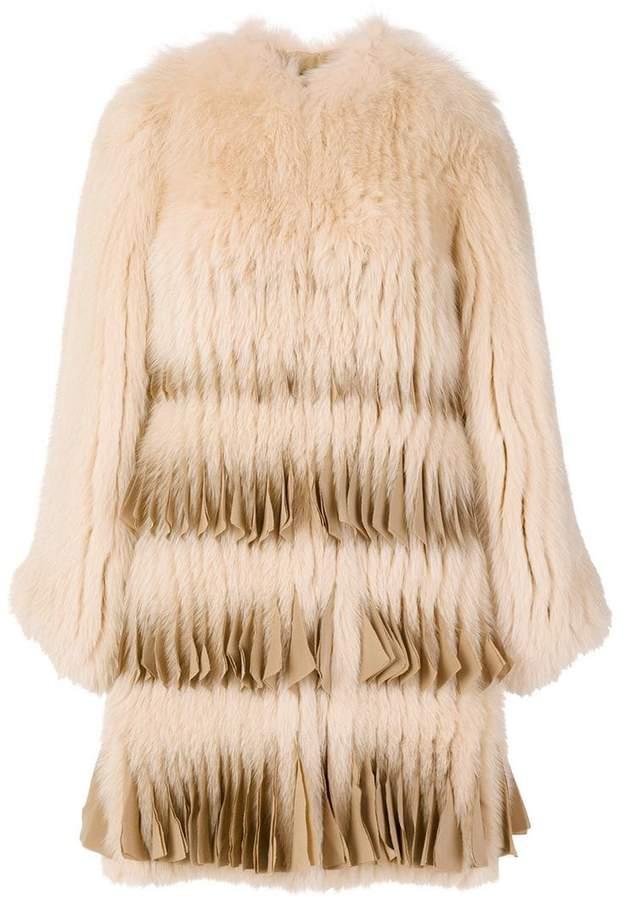 Givenchy pleated-hem coat