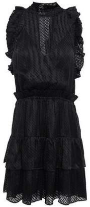 IRO Tiered Ruffled Fil Coupe Chiffon Mini Dress
