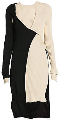 Bottega Veneta Women's Twisted Layer Ribbed Mohair-Blend Dress